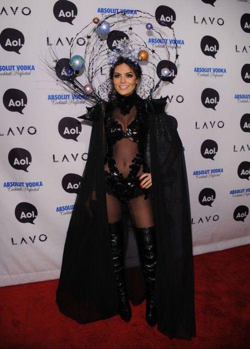 Ximena Navarr also attended Heidi Klum   s party and an original black    Ximena Navarrete Boyfriend