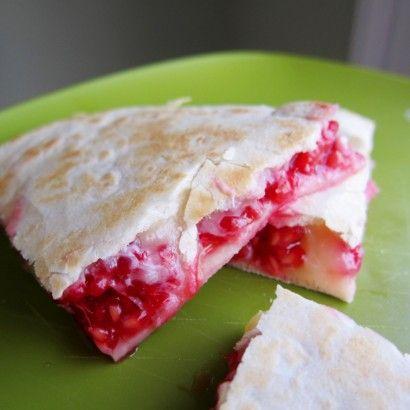 Raspberry quesadillas.