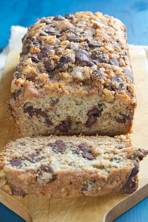 Delightful Nourishment: Banana Bread With Chocolate Chips