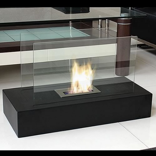 fiamme freestanding bio ethanol fuel fireplace