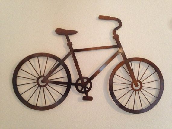 Bicycle metal wall decor home decor pinterest for Bicycle decorations home