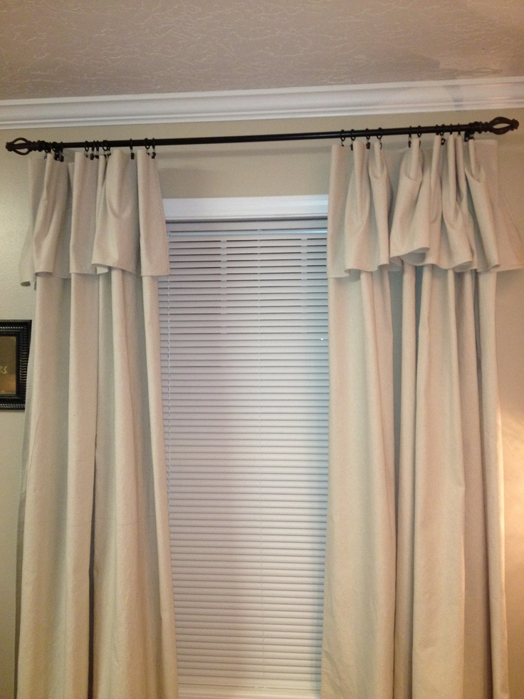 Curtains Made From Canvas Drop Cloths Budget Decorating
