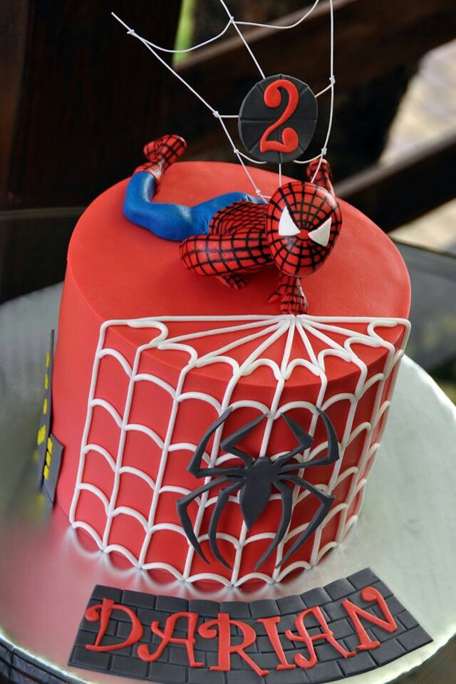 Spiderman Birthday Cake ?? Birthday ideas Pinterest