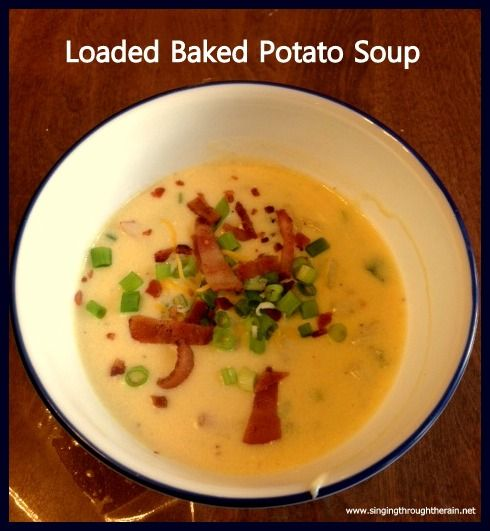 Loaded Baked Potato Soup #soup #recipe | Recipes From the Blog | Pint ...