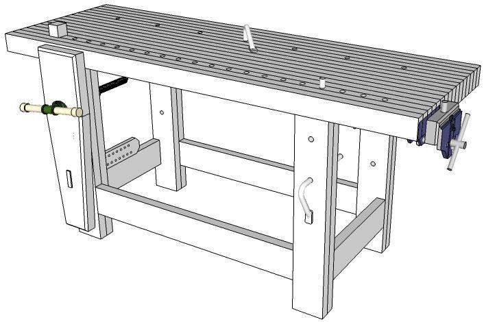 Carl 39 S Woodworking Workbench Pinterest