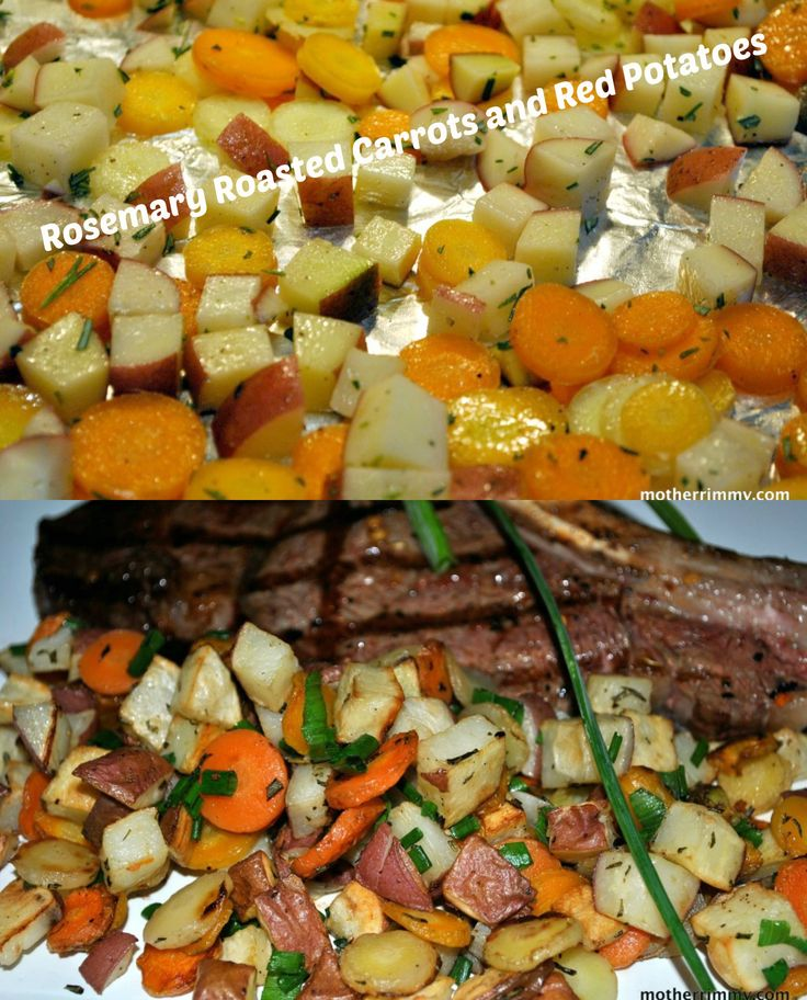 ... roasted-carrots-and-red-potatoes-with-rosemary/ #recipes #carrots #
