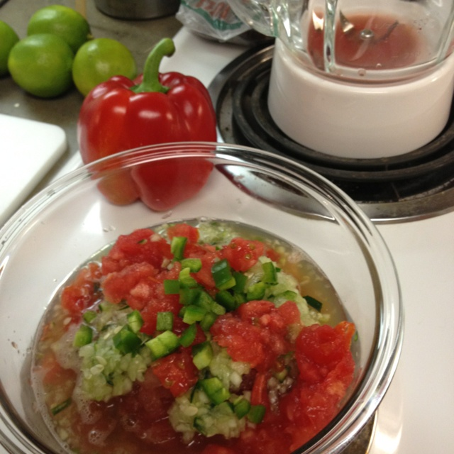 Watermelon tomato gazpacho | SWEET!!!!! | Pinterest