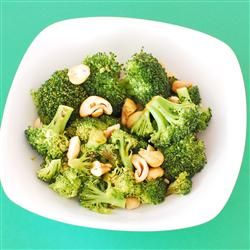 Broccoli with Garlic Butter and Cashews Allrecipes.com #MyPlate