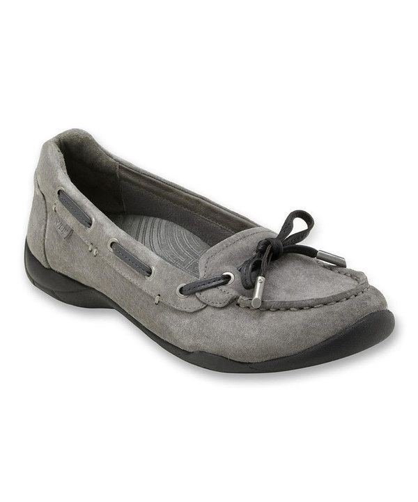 Take a look at this Dr. Andrew Weil Footwear Pewter Discovery Moccasin