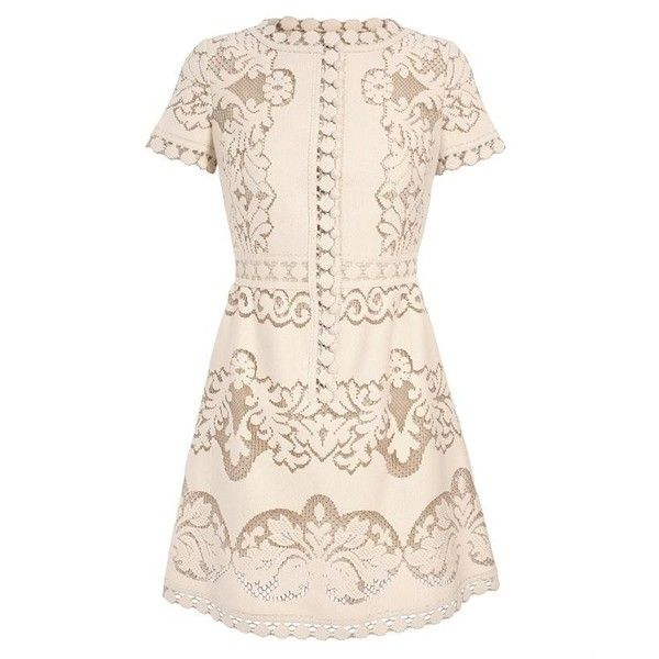 VALENTINO Heavy cotton guipure lace dress found on Polyvore