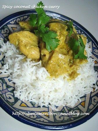 Spicy coconut chicken thai curry et riz a la badiane