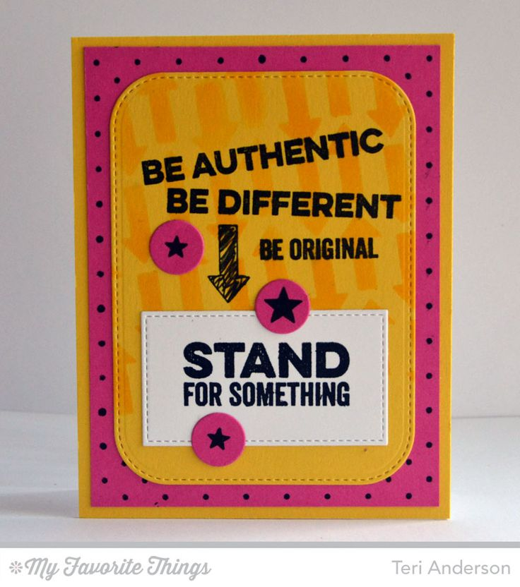 Be Original, Swiss Dots Background, All-Star High Top Die-namics, Stitched Rounded Rectangle STAX Die-namics, Arrows Abound Stencil - Teri Anderson #mftstamps