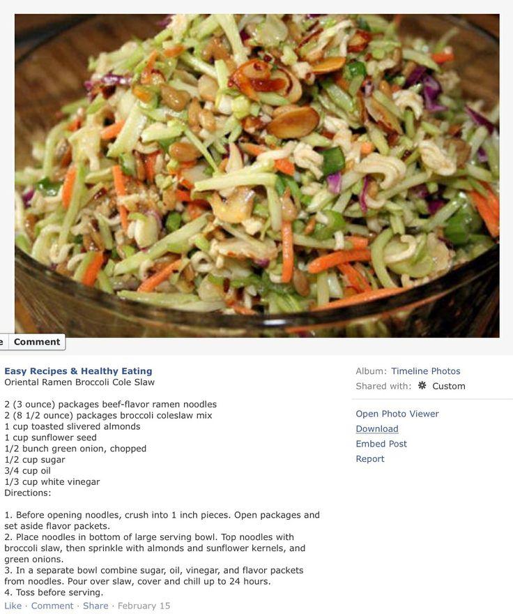 Broccoli Slaw Salad With Honey-Mustard Yogurt Dressing Recipes ...