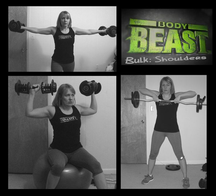 Body Beast Bulk Shoulders workout | BeachBody - Body Beast | Pinterest