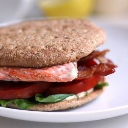 Salmon BLT with Spicy Garlic Mayo | Sandwich Ideas | Pinterest