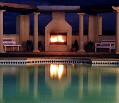 Outdoor Fireplace And Pool Spaces Pinterest
