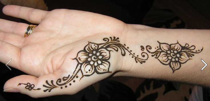 Mehndi For Inner Hand : Inner hand henna tattoo design via fb