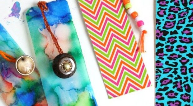 Homemade bookmarks easy gifts kids can make for Easy bookmark ideas