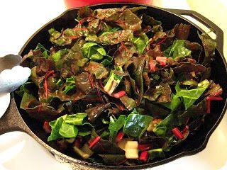 Fork and Vine: Rainbow Chard, Mushroom and Quinoa Salad with a Fried ...