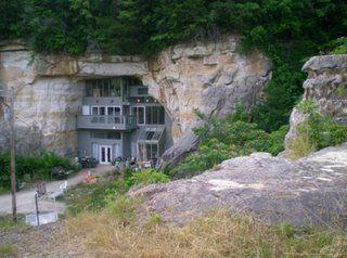 Modern cave dwelling in Festus, Missouri