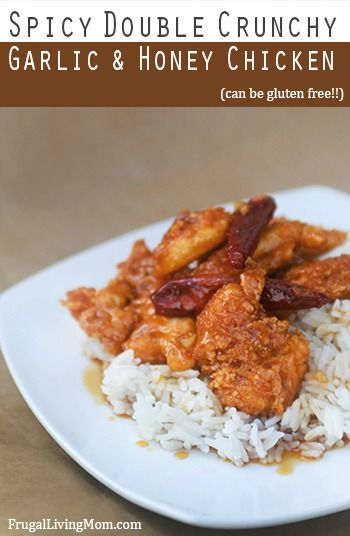 Spicy Double Crunchy Garlic and Honey Chicken (can be gluten free)