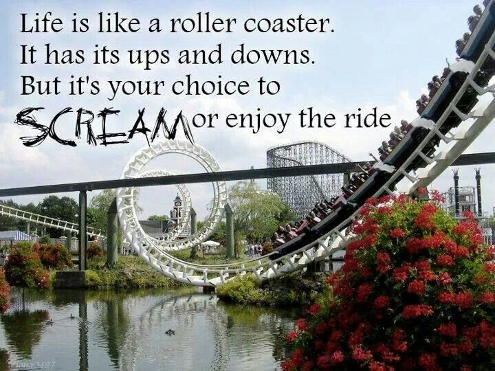 Life is like a roller coaster The letters of gratitude