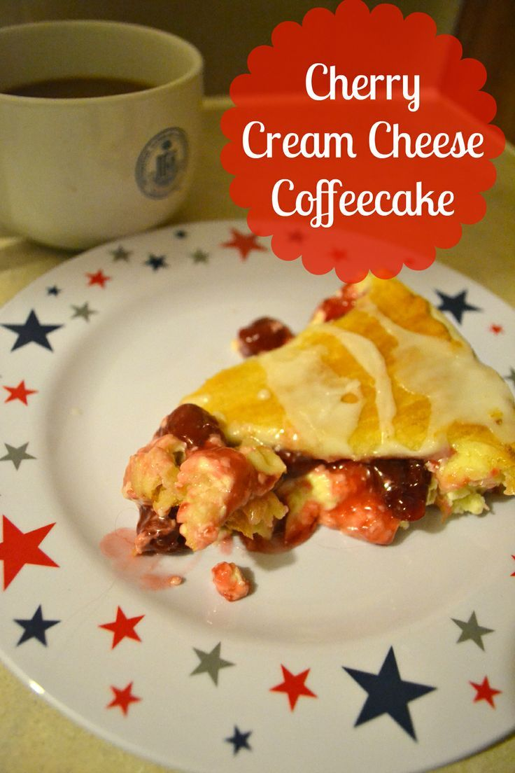 Cherry Cream Cheese Coffee cake | DIY Projects | Pinterest