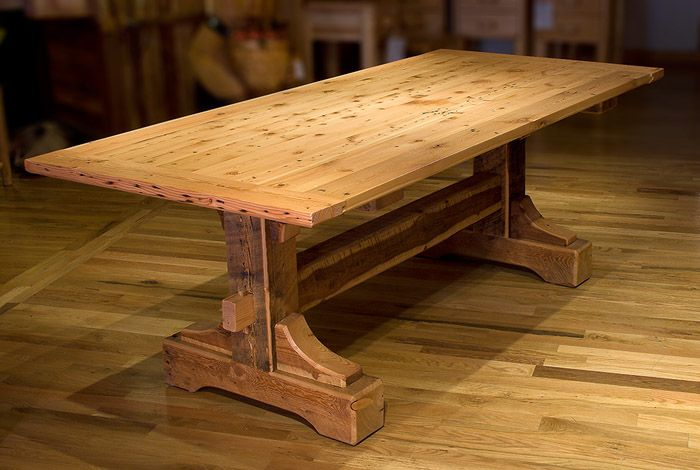 Repurposed barn wood dining table for the home pinterest - Barnwood dining room table ...