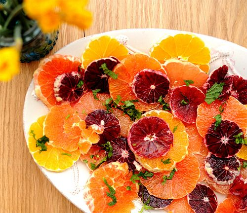 citrus salad with cilantro & mint | Yummy things! | Pinterest
