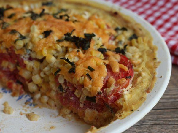 Bryn's summer corn and tomato pie