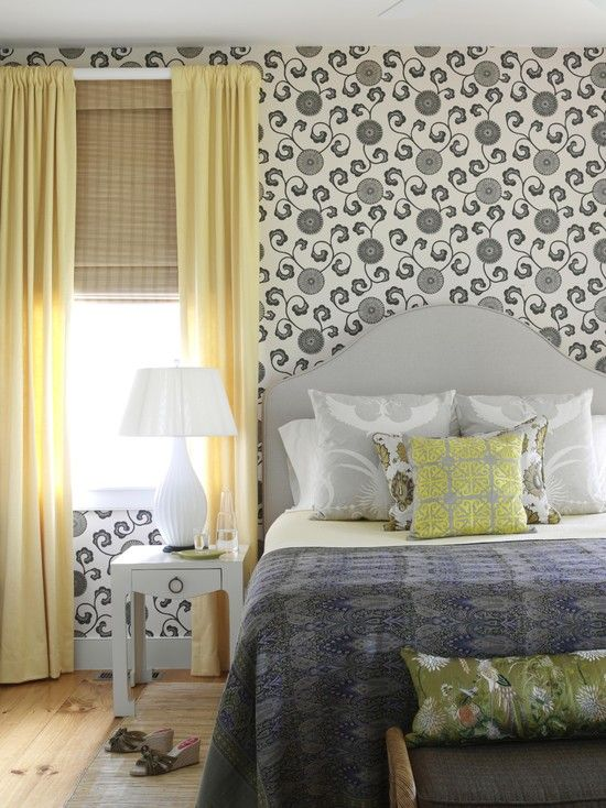 Blue Gray Green Yellow Bedroom Design For The Home Pinterest