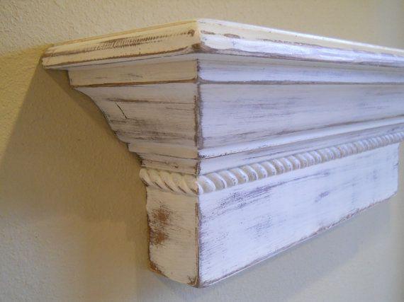 48 floating wall shelf shabby chic wall shelf. Black Bedroom Furniture Sets. Home Design Ideas