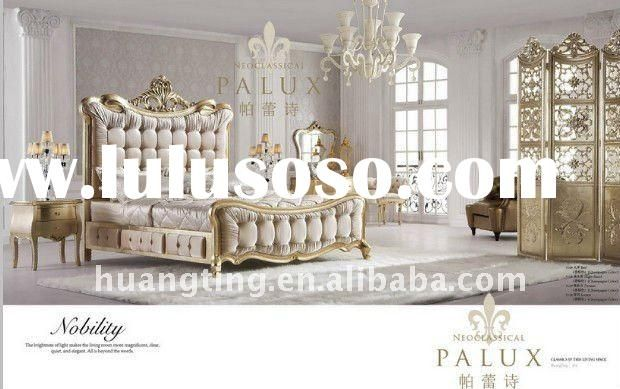 Newest French Style White Bedroom Classic Luxury Bedroom Furniture