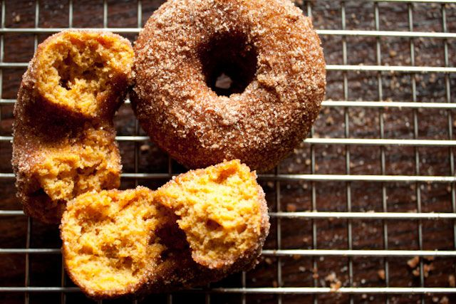 Pumpkin Donuts - CanYouStayForDinner - Andie's adaptation from the ...