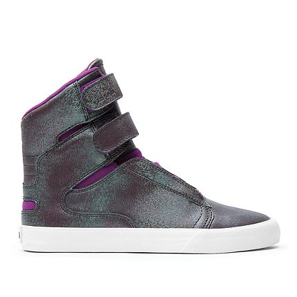 Supra wmns society ii purple green white official supra footwear