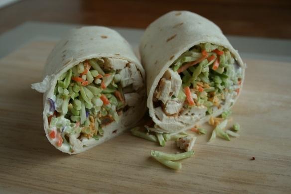 Broccoli slaw buffalo chicken wrap | Yummy | Pinterest