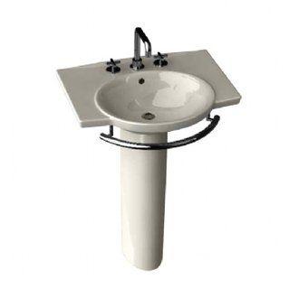 Porcher Pedestal Sink : Porcher 24000-03 Sapho II 26