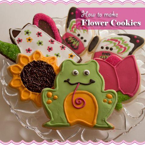 How To Make Flower Cookies by sugarkissed.net
