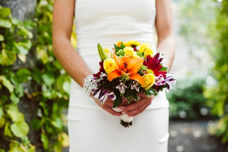 Fall wedding bouquet simple i did 11 pinterest for Simple fall bridesmaid bouquets