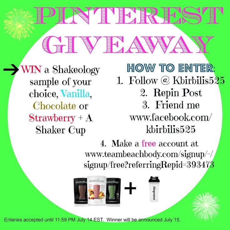 Shakeology Sample + Shaker Giveaway!! | 21 Day Fix | Pinterest