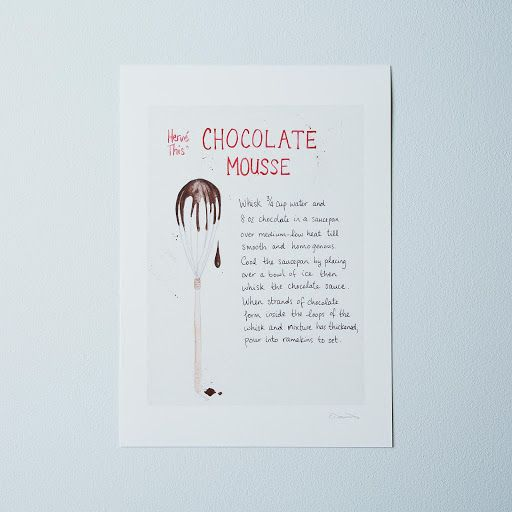 Food52's Herve This Chocolate Mousse Recipe Print on Provisions by ...