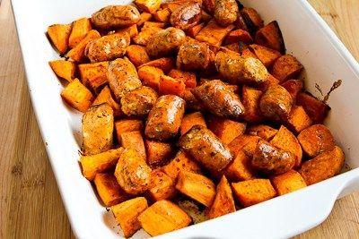 ... Easy Recipe for Spicy Roasted Sweet Potatoes and Chicken-Garlic