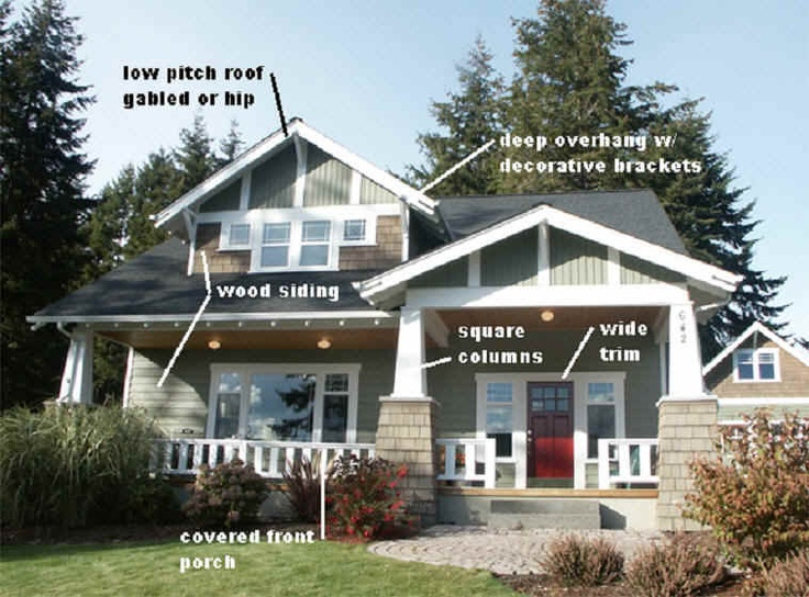 Arts and craft bungalow pretty old bungalows pinterest for Bungalow craftsman style homes