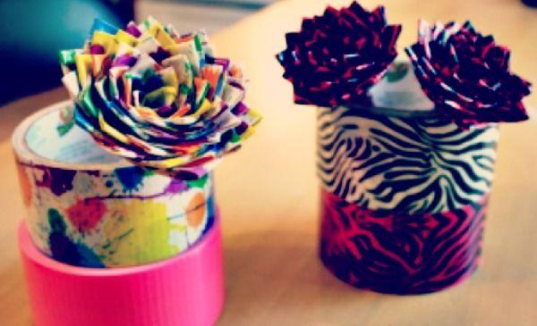 Duck tape flower pens gorgeous flower tutorials