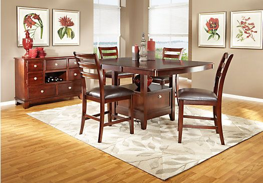 pc counter height dining room at rooms to go find dining room sets