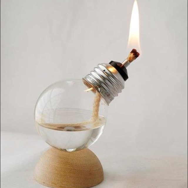 Clever thing to do with an old lightbulb