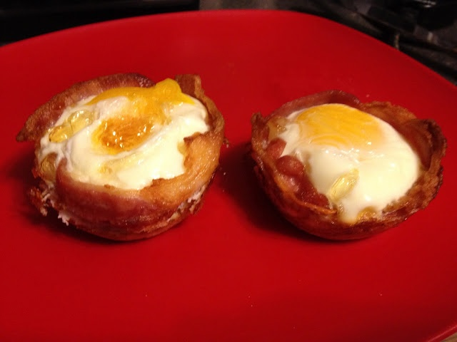 "Bacon and Egg ""Cupcakes"" 