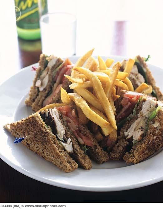 Chicken Club Sandwich. Had it at my resort in Runaway bay, Jamaica ...