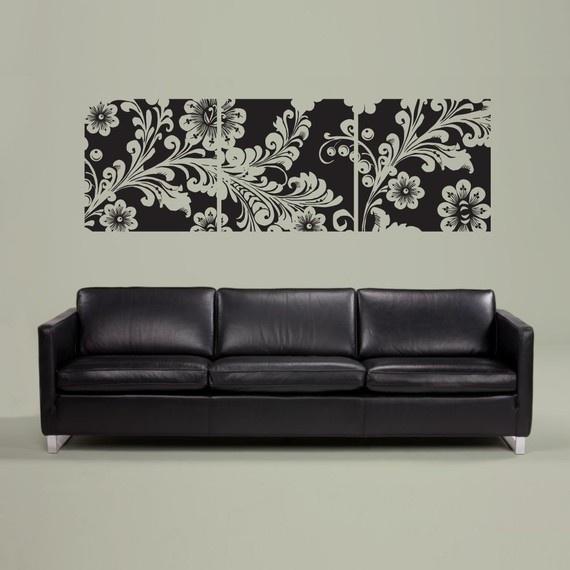 Vinyl Wall Sticker Decal Art Framed Flowers