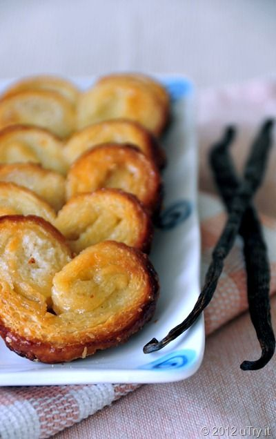 ... from puff pastry . (Palmiers, elephant ears, butterfly cookies